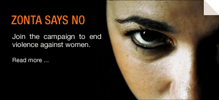 zonta says no to violence against women