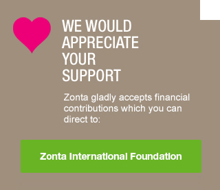 Please show your support - donate to Zonta International Foundation